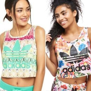 Set of 2 | Adidas x Farm Rio Floral/Butterfly Tops